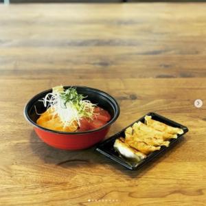 刺身丼、餃子