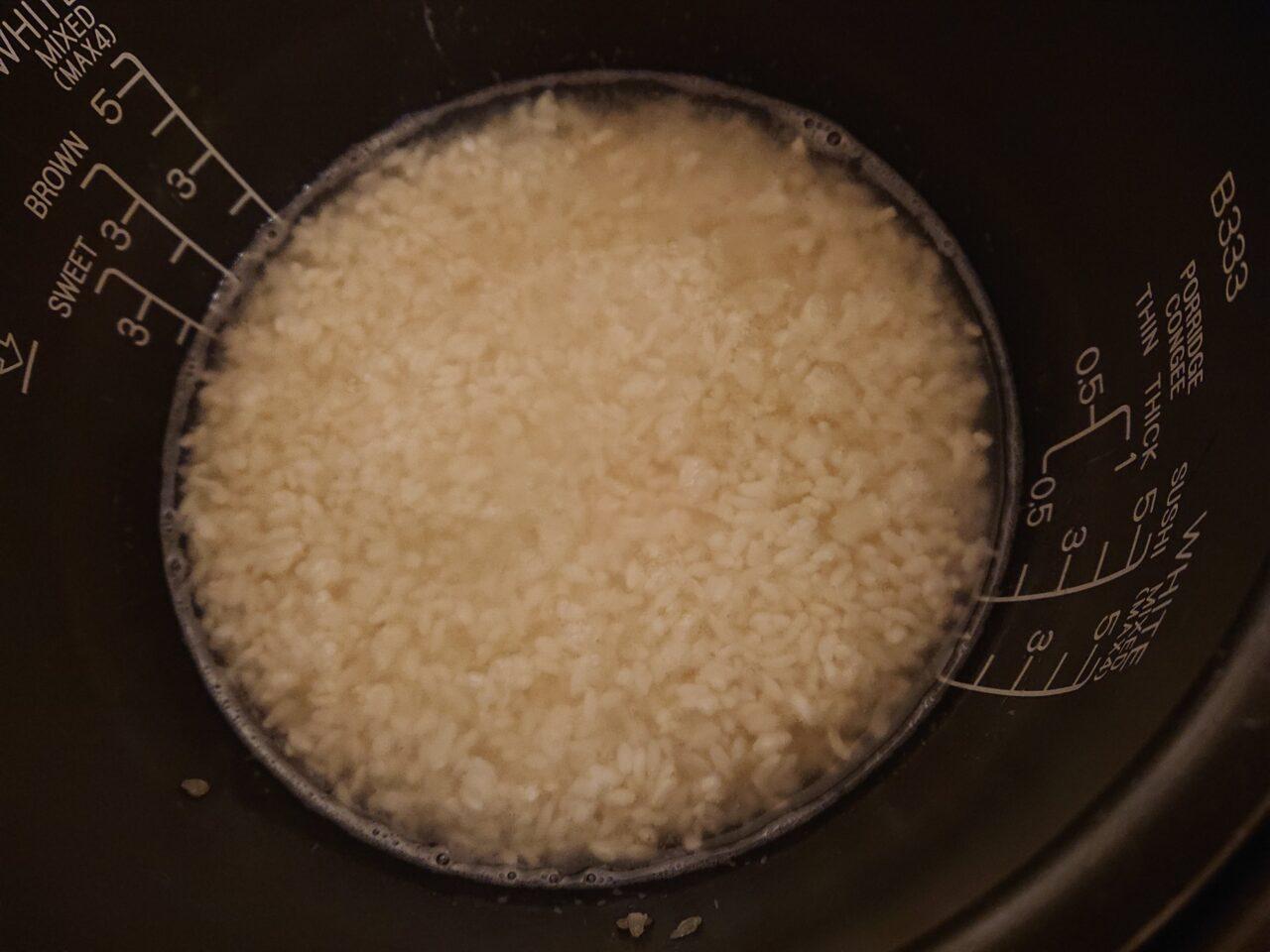 米麹で甘酒